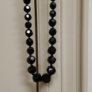Carolee black glass bead necklace